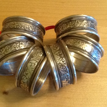 6 - Sterling Napkin Rings - Sterling Silver