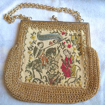Repost Antique Renaissnce Style Tapestry Bag - Accessories