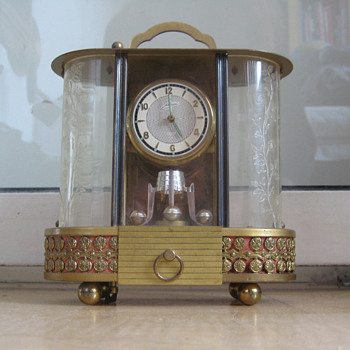 Antique German 1960's musical carriage clock.
