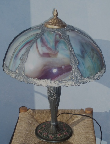Antique Slag Glass Lamp Collectors Weekly
