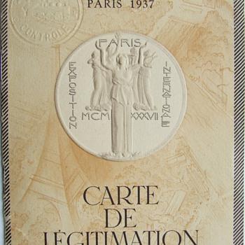 1937 Exposition Internationale des Arts et Techniques dans la Vie Moderne Ligitimate Card