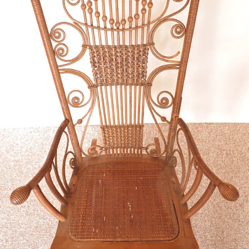 My great-great grandmother's cane & rattan chair