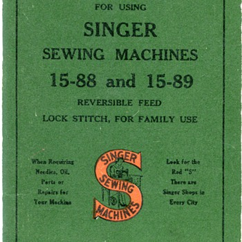 Vintage Singer Sewing Machine Manual...