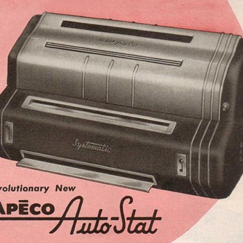 1953 - Apeco Photocopier Advertisement - Advertising