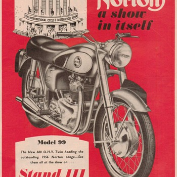 1955 Norton Motorcycle Advertisement - Advertising