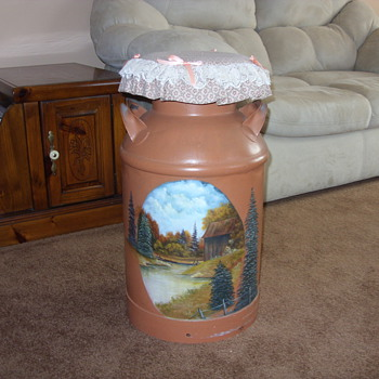 redone old milk can