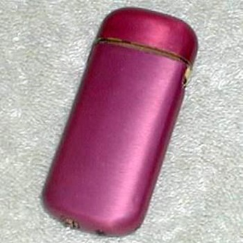 Red Anodized Cigarette Lighter - Tobacciana