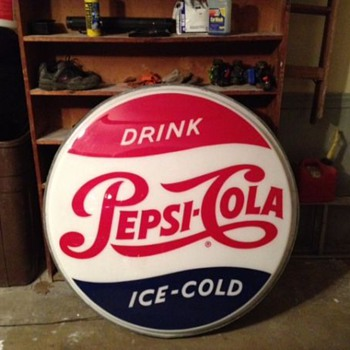 Light up pepsi sign.