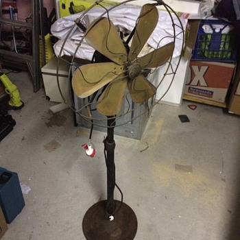 GE Pedestal 6 Spoke fan adjustable