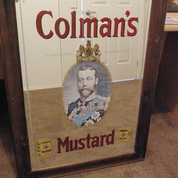 colemans mustard mirror - Advertising