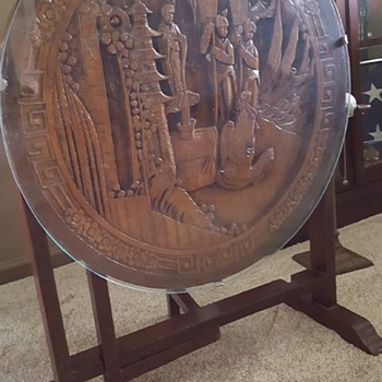 Japanese carved side table