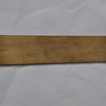 Neuhöffer & Sohn brass rule scale calculator ???