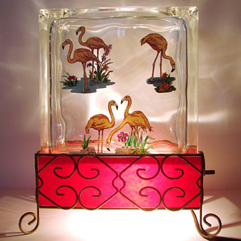TV Lamp - Pink Flamingo - Lamps