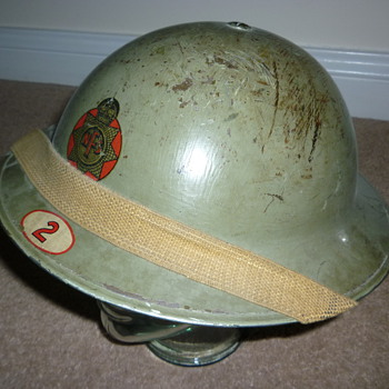 British WWII National Fire Service Helmet - Military and Wartime