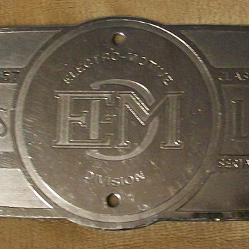 1957 EMD builder plate - Railroadiana