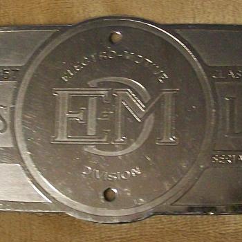 1957 EMD builder plate