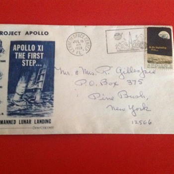 Unopened invitation to the Apollo XI launch.