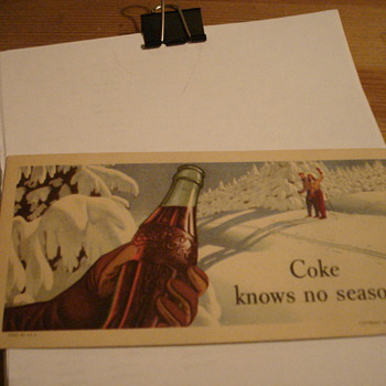 Coke Postacard - Office