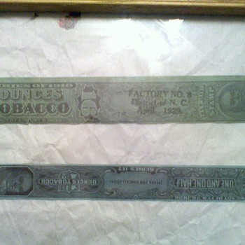 Antique Tobacco Tax Stamps & Cigar Firkin