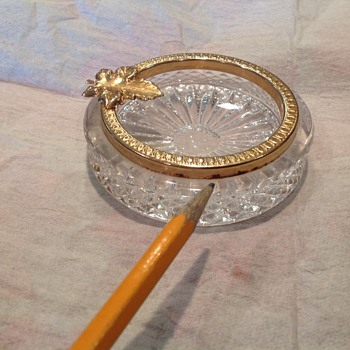Cut glass ashtray