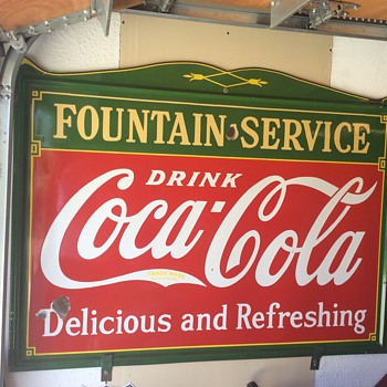 Fountain Service sign ( a real one )
