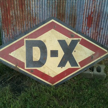 Vintage D-X Oil Sign - Signs
