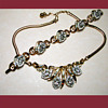 Exquisite signed Crown Trifari necklace and bracelet. 1950&#039;s 