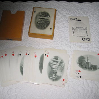 Beautiful Deck of Playing Cards C&amp;O railroad