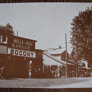 Old Socony gas station photo copy
