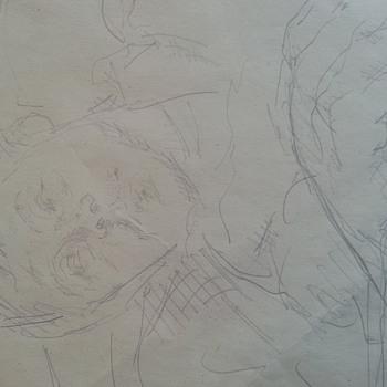 Original Picasso signed Sketch, dated 1953. - Visual Art