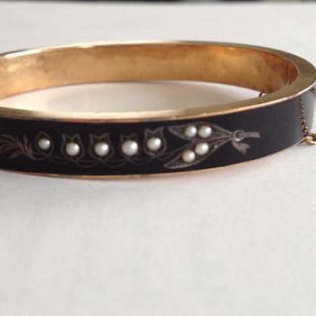 Victorian Enamel Mourning Bracelet - Fine Jewelry