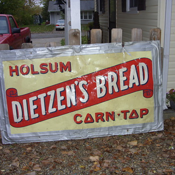 1948 dietzen bread sign - Signs