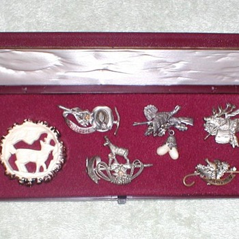 German Hunting Hat Pins