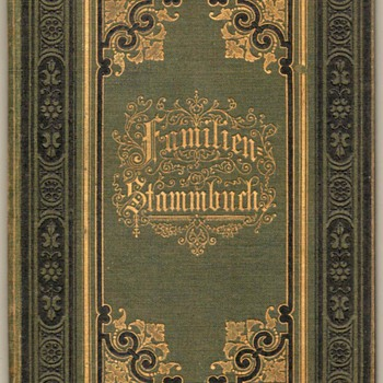 1902 - German Family Register Book - Books