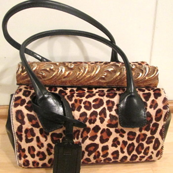 Vintage Leopard Calf Skin Handbag by Marc and Marc by Sharif. - Bags