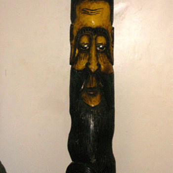 Carved Wooden Mask Of Sage o Lama - Folk Art