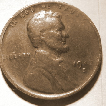 1943-s copper penny die filled error