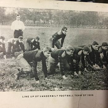 Vanderbilt team line up 1906