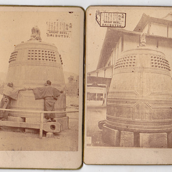 CDV of Great bell Diabutsu - Photographs
