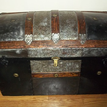 Camelback trunk circa 1870's or 1880's - Furniture