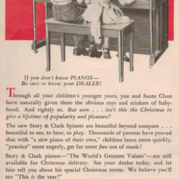 1950 Story &amp; Clark Piano Advertisements - Advertising