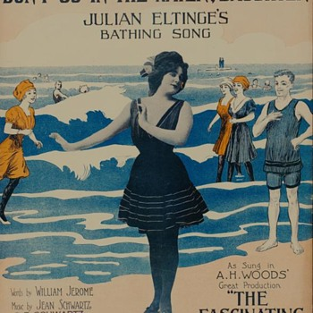 """1908 Sheet music from a Broadway Show, Starred Julian Eltinge,""""Cross=Dresser"""" On The Coverre"""
