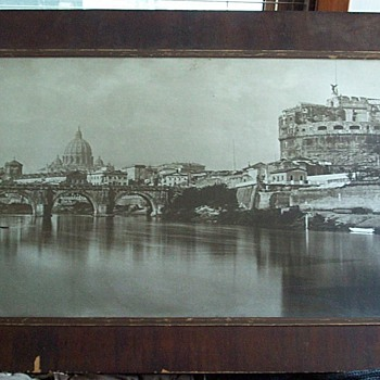 Old picture of Rome from my grandpa.. What is it worth? Where is it??  What is it??? - Photographs