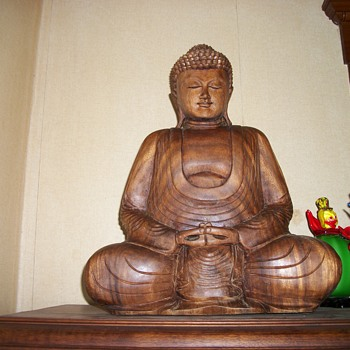 Wood carved Buddha