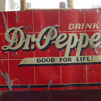 Dr. Pepper...Tin Sign...Springfield, Ohio...1936