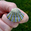 Monet Enamel Seashell Brooch