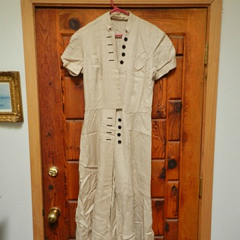 1950's Saks Fifth Avenue Linen Dress - Womens Clothing