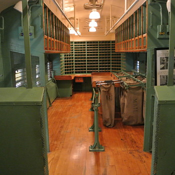 1914 Northern Pacific Post Office, Combo Baggage Car - Railroadiana