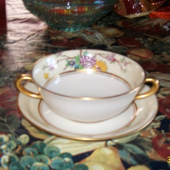 Lenox Marshall Field Saucer and Cup or Soup Bowl - China and Dinnerware