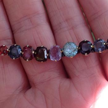Victorian Mixed Gem Bracelet - Victorian Era